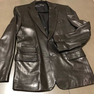 💯% Authentic Men's leather Gucci Blazer